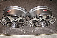 "Aluminum 18"" Racing Wheel AFTER Chrome-Like Metal Polishing and Buffing Services"