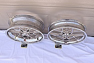 Carrozzeria Aluminum Motorcycle Wheel AFTER Chrome-Like Metal Polishing and Buffing Services