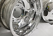 Aluminum Truck Wheels AFTER Chrome-Like Metal Polishing - Aluminum Polishing Services