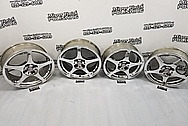 Toyota MR-2 Aluminum Wheels AFTER Chrome-Like Metal Polishing - Aluminum Polishing Services