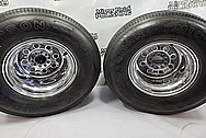 1970 Chevrolet Truck Aluminum Wheels BEFORE Chrome-Like Metal Polishing and Buffing Services - Aluminum Polishing - Wheel Polishing