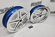 Aluminum Drag Race Wheels AFTER Chrome-Like Metal Polishing and Buffing Services / Restoration Services - Aluminum Polishing - Wheel Polishing
