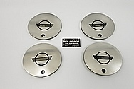 Chevy Corvette Aluminum Wheel Centercaps AFTER SATIN FINISH Polishing and Buffing - Aluminum Polishing - Wheel Polishing - Centercap Polishing