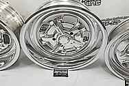 Aluminum Kidney Bean Wheels AFTER Chrome-Like Polishing and Buffing - Aluminum Polishing - Wheel Polishing