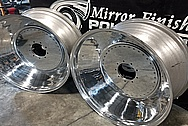 """Aluminum Truck Pulling 32"""" Wheels AFTER Chrome-Like Metal Polishing and Buffing Services - Aluminum Polishing Services - Wheel Polishing"""