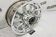 Harley Davidson Aluminum Motorcycle Wheels AFTER Chrome-Like Metal Polishing and Buffing Services - Aluminum Polishing Services - Wheel Polishing