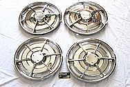1963 Chevy Corvette Hubcaps / Wheel Covers AFTER Chrome-Like Metal Polishing and Buffing Services