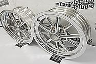 Aluminum Motorcycle Wheels AFTER Chrome-Like Metal Polishing and Buffing Services - Aluminum Polishing - Wheel Polishing
