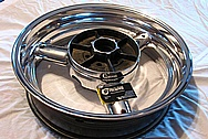2008 Suzuki Hayabusa Aluminum Motorcycle Wheel AFTER Chrome-Like Metal Polishing and Buffing Services
