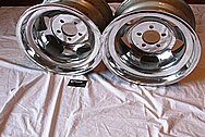 1969 Javelin AMX Aluminum Wheels AFTER Chrome-Like Metal Polishing and Buffing Services