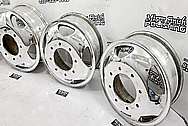 Aluminum Truck Wheels AFTER Chrome-Like Metal Polishing and Buffing Services / Restoration Services - Aluminum Polishing - Wheel Polishing