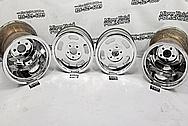 Fenton Gyro Slots Aluminum Wheels AFTER Chrome-Like Metal Polishing - Aluminum Polishing - Wheel Polishing Services