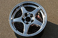 Chevy Corvette ZR-1 Aluminum Wheel AFTER Chrome-Like Metal Polishing and Buffing Services