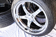 Aluminum Wheels AFTER Chrome-Like Metal Polishing and Buffing Services / Restoration Services Plus Custom Painting Services