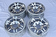 Aluminum Vehicle Wheels AFTER Chrome-Like Metal Polishing and Buffing Services / Restoration Services