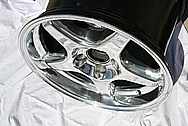 "Chevy 18"" Aluminum Wheel BEFORE Chrome-Like Metal Polishing and Buffing Services"