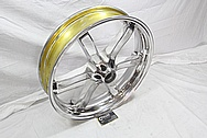 Buell XB Powdercoated Motorcycle Wheel AFTER Chrome-Like Metal Polishing and Buffing Services / Restoration Services
