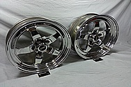 Weld Racing Forged Aluminum Wheels AFTER Chrome-Like Metal Polishing and Buffing Services / Restoration Services