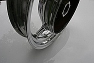 Yamaha Motorcycle Viraga Aluminum Wheel AFTER Chrome-Like Metal Polishing and Buffing Services