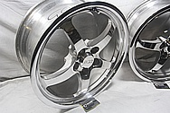 CCW SP500 Aluminum Racing Wheels AFTER Chrome-Like Metal Polishing and Buffing Services