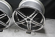 Chevy Corvette Aluminum Wheels AFTER Chrome-Like Metal Polishing and Buffing Services / Restoration Services