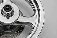 Scooter Aluminum Wheel AFTER Chrome-Like Metal Polishing and Buffing Services