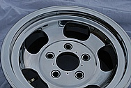 "14"" Racing Wheel AFTER Chrome-Like Metal Polishing and Buffing Services"