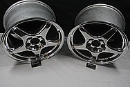 Chevrolet Corvette ZR-1 Aluminum Wheels AFTER Chrome-Like Metal Polishing and Buffing Services / Restoration Services