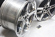 Ford Mustang Cobra Aluminum Wheels AFTER Chrome-Like Metal Polishing and Buffing Services / Restoration Services
