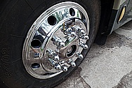 2003 Newmar Dutch Star RV Aluminum Wheels AFTER Chrome-Like Metal Polishing and Buffing Services / Restoration Services