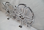 Aluminum Wheel AFTER Chrome-Like Metal Polishing and Buffing Services / Restoration Services