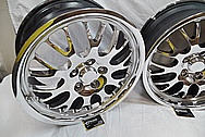 Dodge viper stock OEM Aluminum Wheels AFTER Chrome-Like Metal Polishing and Buffing Services / Restoration Services