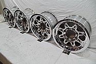 Weld Racing Aluminum Forged Wheels AFTER Chrome-Like Metal Polishing and Buffing Services / Restoration Services
