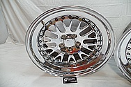 Aluminum CCW Wheels AFTER Chrome-Like Metal Polishing and Buffing Services / Restoration Services