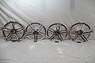 Core Brand 3 Piece Aluminum Wheels AFTER Chrome-Like Metal Polishing and Buffing Services