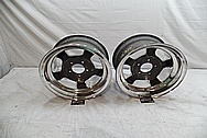 1960's Halibrand Magnesium 5 Spoke Wheels BEFORE Chrome-Like Metal Polishing and Buffing Services / Restoration Services