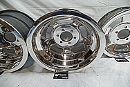 1960's Halibrand Magnesium 5 Spoke Wheels AFTER Chrome-Like Metal Polishing and Buffing Services / Restoration Services