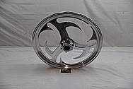 Custom Aluminum Motorcycle Wheel AFTER Chrome-Like Metal Polishing and Buffing Services / Restoration Services