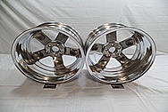 Aluminum Five Star Wheel Back Barrels AFTER Chrome-Like Metal Polishing and Buffing Services