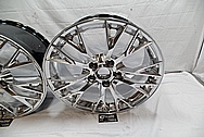2017 Chevrolet Corvette Aluminum Wheel Faces and Back Barrels AFTER Chrome-Like Metal Polishing and Buffing Services