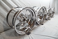 Aluminum Wheel Faces and Back Barrels AFTER Chrome-Like Metal Polishing