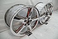 Chrome Plated Aluminum Wheels AFTER Chrome-Like Metal Polishing - Aluminum Wheel Polishing