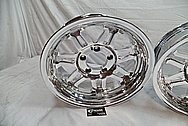 Billet Chrome Plated Aluminum Wheels AFTER Chrome-Like Metal Polishing - Aluminum Wheel Polishing