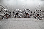 Rohana Aluminum Wheels AFTER Chrome-Like Metal Polishing - Aluminum Polishing - Wheel Polishing