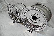 Aluminum Wheel Lips and Faces With Rivets AFTER Chrome-Like Metal Polishing - Aluminum Polishing - Wheel Polishing