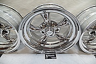 American Racing 5 Spoke Alumium Racing Wheels AFTER Chrome-Like Metal Polishing - Aluminum Polishing - Wheel Polishing