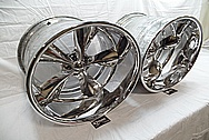Boyd Coddington Alumium Racing Wheels AFTER Chrome-Like Metal Polishing - Aluminum Polishing - Wheel Polishing