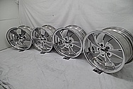 Intricate Aluminum Wheels AFTER Chrome-Like Metal Polishing and Buffing Services - Aluminum Polishing