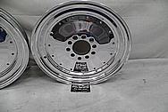 Aluminum Drag Racing Wheels AFTER Chrome-Like Metal Polishing and Buffing Services - Aluminum Polishing