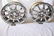 "Subaru WRX STI Aluminum 17"" Wheel AFTER Chrome-Like Metal Polishing and Buffing Services"